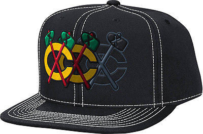 Chicago Blackhawks Disappearing Tomahawk Snapback Hat NHL Reebok Official Cap