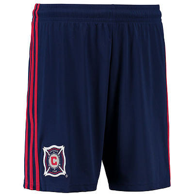 Youth Chicago Fire Replica Shorts MLS Adidas Official - Navy Blue