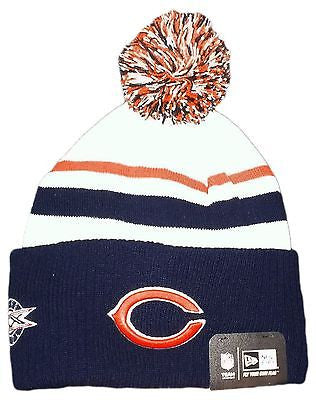 Chicago Bears Super Bowl XX Cuffed Knit Hat With Pom New Era NFL Official Beanie