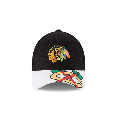 Chicago Blackhawks New Era 39THIRTY Logo Twist Flex Fit Hat NHL Baseball Cap
