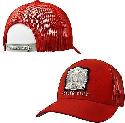 Chicago Fire SC Adjustable Mesh Back Hat MLS Adidas Official Team Pride Cap