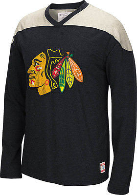 Youth Chicago Blackhawks CCM Long Sleeve Applique Crew Neck T-Shirt NHL Tee
