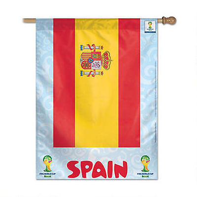 "Spain 2014 Fifa World Cup Brazil Vertical Flag 27"" x 37"" Country Banner"