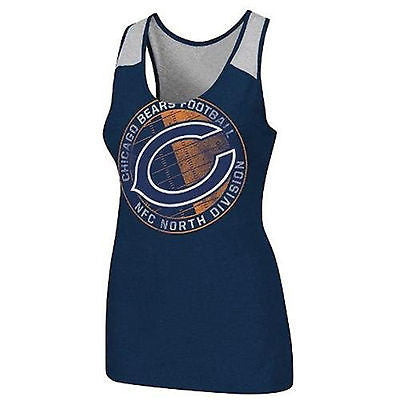 "Chicago Bears Women's Majestic NFL ""Play Time Tank VI"" Tank Top Shirt"