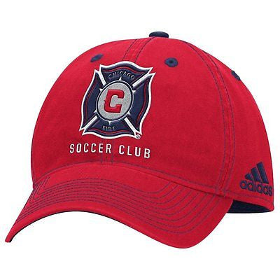 "Chicago Fire SC ""Team Performance"" Structured Adjustable Hat MLS Adidas Cap"