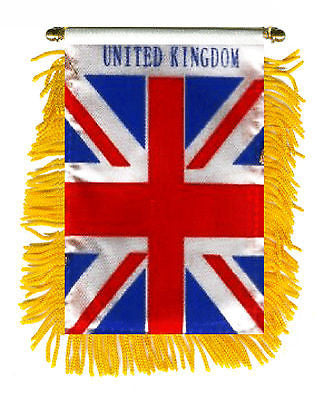 "United Kingdom Tassel Flag Mini Banner 4""x6"" Pack Of Two United Kingdom Pennant 15 x 10 CM"