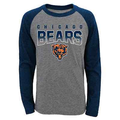 Youth Chicago Bears Raglan Long Sleeve T-Shirt Outerstuff NFL Official Tee