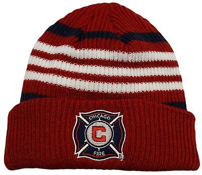 Chicago Fire SC Cuffed Knit Hat Adidas MLS Officially Licensed Beanie