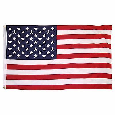 USA 3'x5' Super-Polyester Country Banner Canvas Header & Brass Grommets American Flag