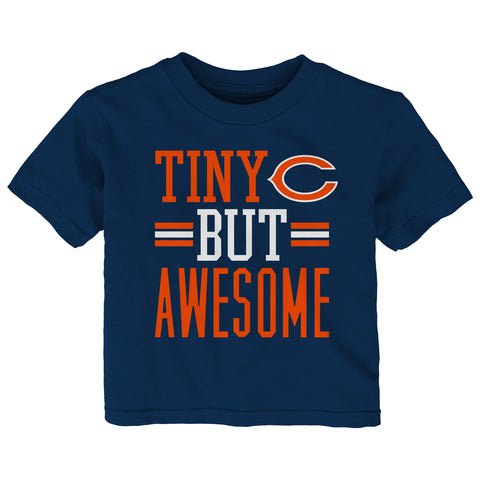 "Infant Chicago Bears ""Tiny But Awesome"" Short Sleeve T-Shirt Tee"