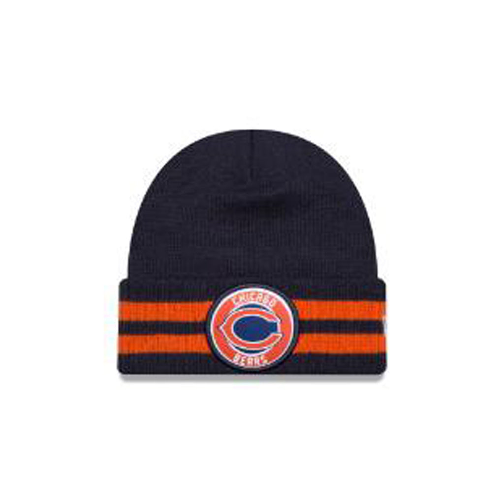 Chicago Bears New Era  2 Striped Remix Knit Beanie