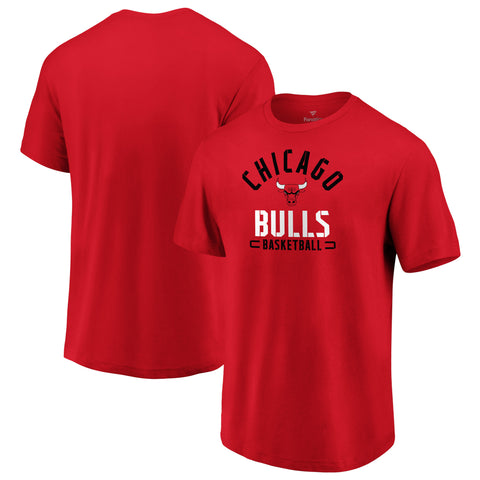 Chicago Bulls NBA Fanatics Branded Battle Arc T-shirt - Red