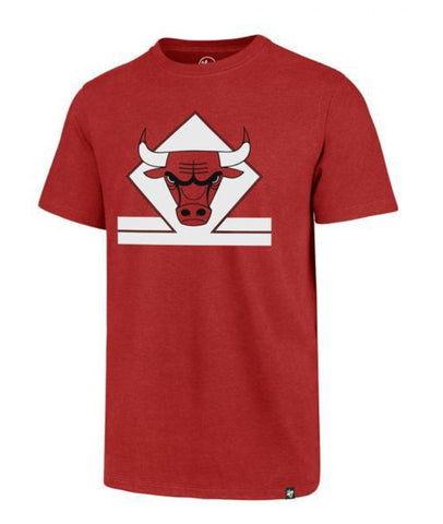 '47 Brand Chicago Bulls NBA Red Regional Club Tee Mens