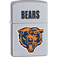 Chicago Bears NFL Style4 Zippo Outdoor Indoor Windproof Lighter Free Custom Personalized Engraved Message Permanent Lifetime Engraving on Backside Z705