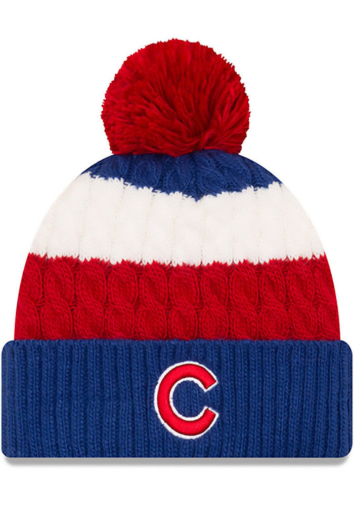 Chicago Cubs Women's New Era Layered Up Knit Hat - Blue