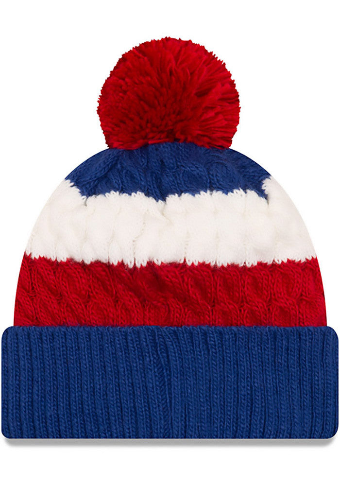 New Era Chicago Cubs Blue Layered Up Womens Knit Hat – Sports Outlet ... 436aaa9771c