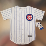 Chicago Cubs Youth Majestic MLB Official #12 Kyle Schwarber Printed Home Jersey - White