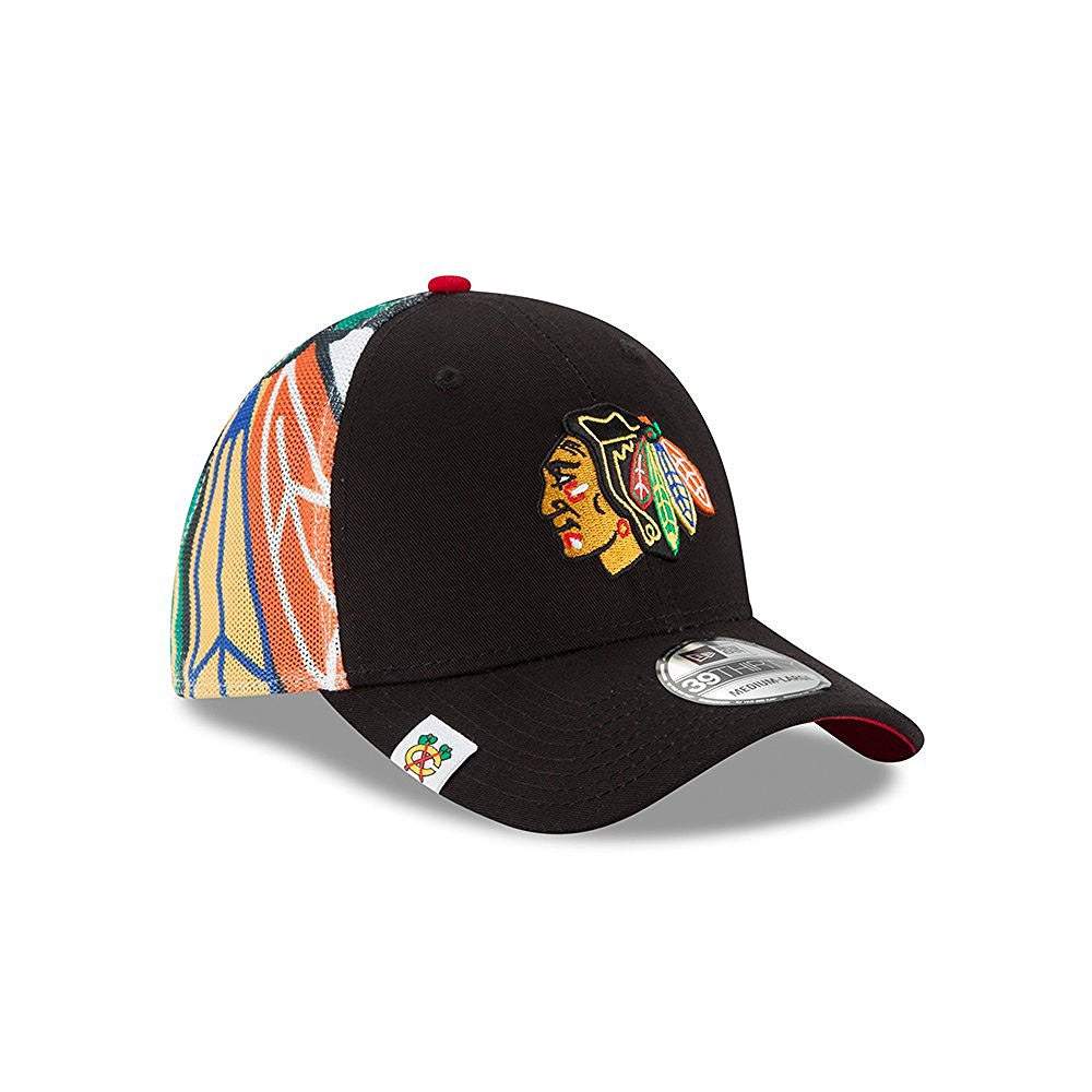 new product 74d94 5fe13 Chicago Blackhawks Logo Wrapped Flex Fit Hat   Cap – Sports Outlet Express