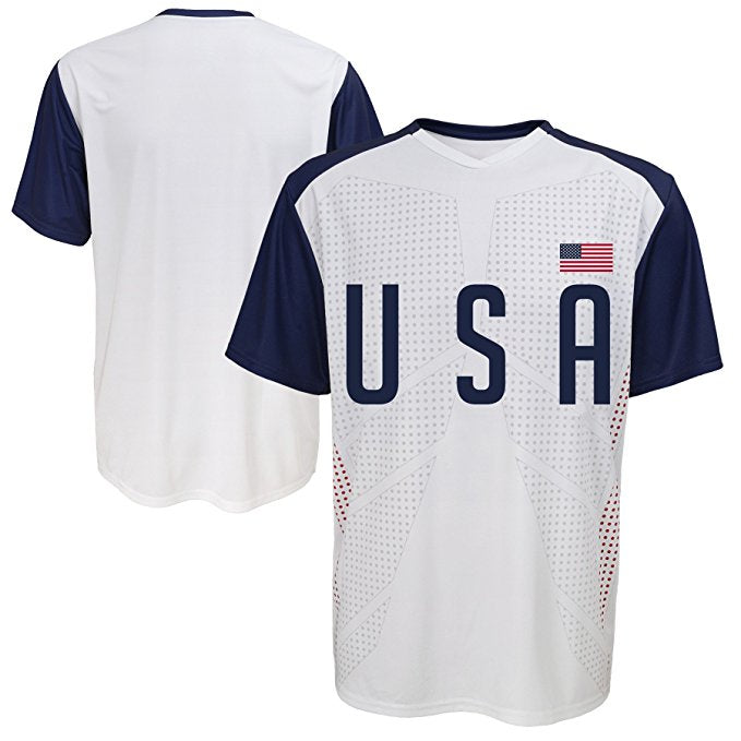 low priced 203bb 3a426 World Cup Soccer USA Football Soccer Mens Jersey Short Sleeve Tee Gen2