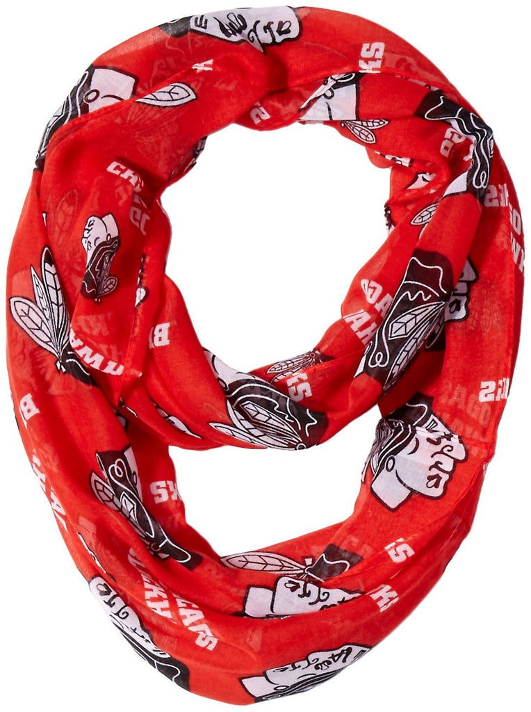 Chicago Blackhawks Women's Team Logo Infinity Scarf