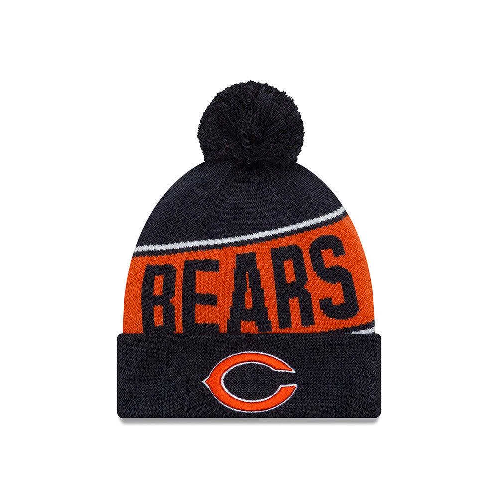 Chicago Bears Roster: Chicago Bears New Era Team Chant Knit Beanie With Pom, One