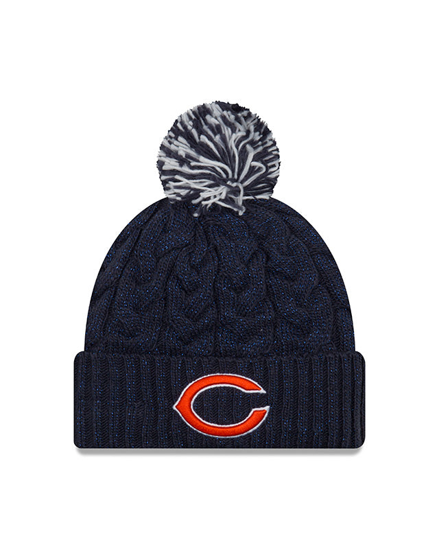 uk availability 9a9b9 05cb4 ... reduced chicago bears new era womens navy cozy cable cuffed knit hat  64e91 06810