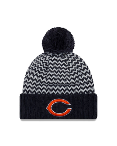 Chicago Bears NFL New Era Patterned Beanie with Pom