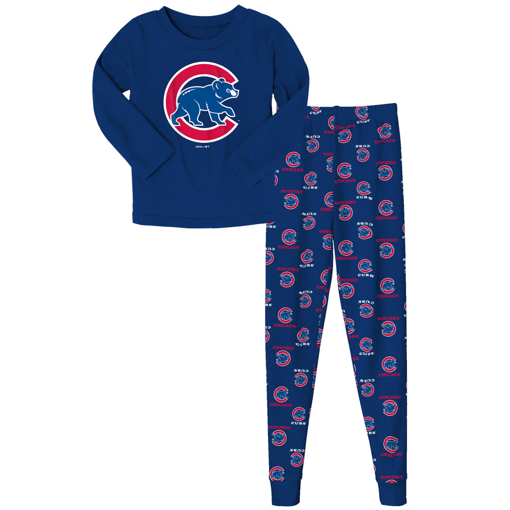Kids Chicago Cubs 2 Piece Royal Blue Pajama Set