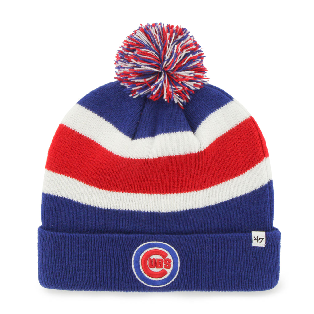 3d6bf673e09767 ... coupon code for 47 brand chicago cubs mens cuffed knit hat with pom.  f3bac c76f0 ...