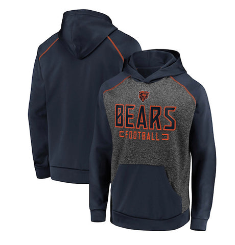 Chicago Bears NFL Fanatics Branded Chiller Fleece Pullover Hoodie -Grey/Blue