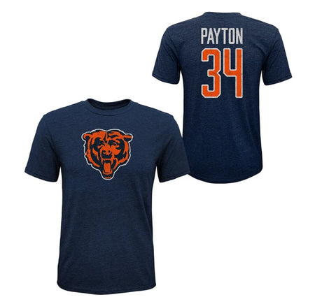 Chicago Bears Walter Payton #34 Toddler's Tri-Blend Name and Number Short Sleeve T-Shirt
