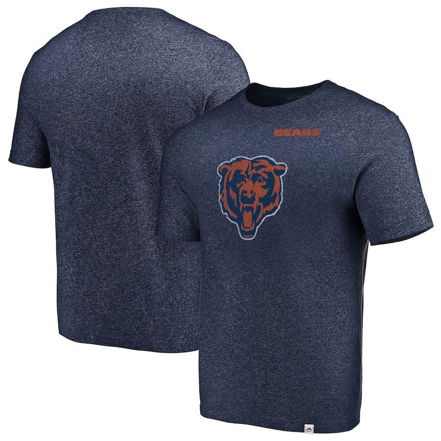 Majestic Chicago Bears NFL Navy Static Logo T-Shirt
