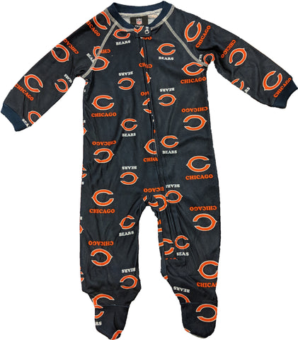 Chicago Bears Infant and Toddler One-Piece Footie Pajama