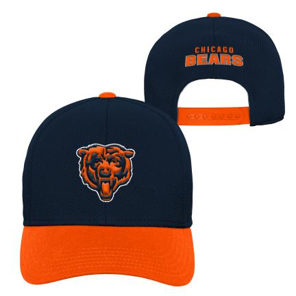 Chicago Bears Youth Fan Tech Velocity Adjustable Navy and Orange Hat
