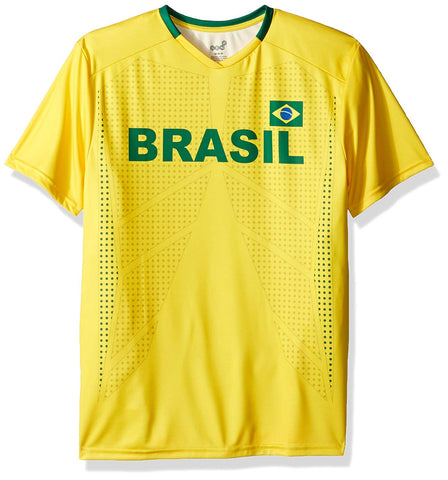 Outerstuff Soccer Brazil Youth Federation Yellow Jersey Short Sleeve Tee
