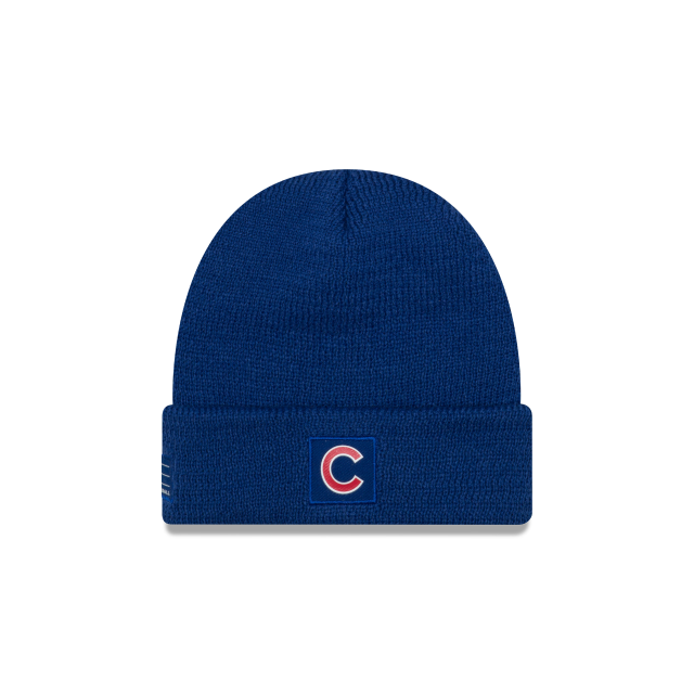 Chicago Cubs New Era Sport Royal Blue Lined Knit Hat – Sports Outlet Express 6741d1f5e81