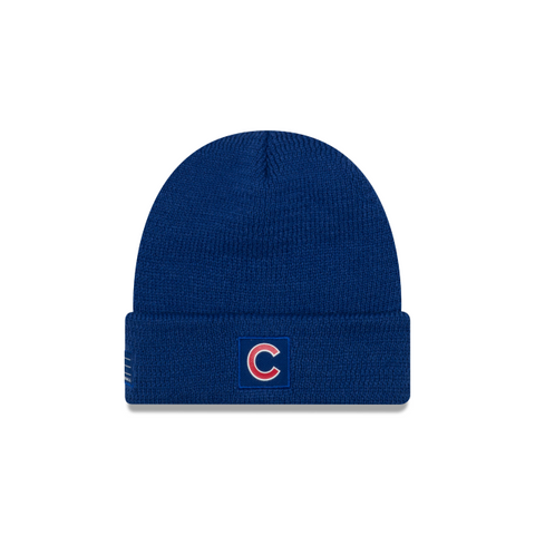 Chicago Cubs New Era Sport Royal Blue Lined Knit Hat