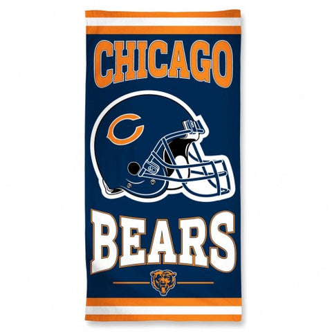 "Chicago Bears NFL 30"" x 60"" Fiber Beach Towel"