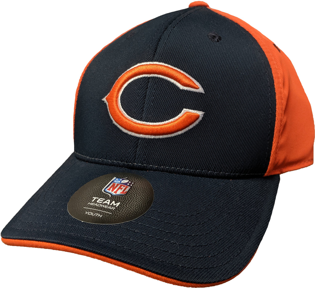 Youth Chicago Bears Navy and Orange Adjustable Cap Hat