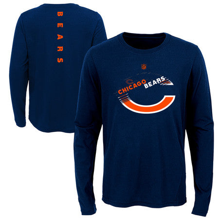 Chicago Bears Youth Outerstuff NFL Flux Long Sleeve Ultra Tee