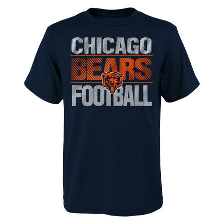 Chicago Bears Youth Outerstuff NFL Light Streaks Short Sleeve Tee