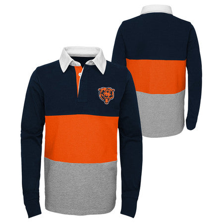 size 40 e9384 74cc5 Chicago Bears Youth Outerstuff NFL State of Mind Rugby Top