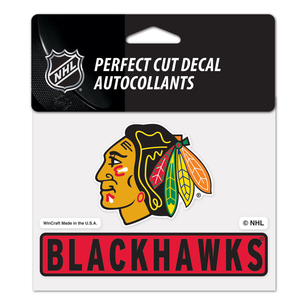 "Chicago Blackhawks Wincraft Perfect Cut Color Decal 4.5"" x 5.75"""