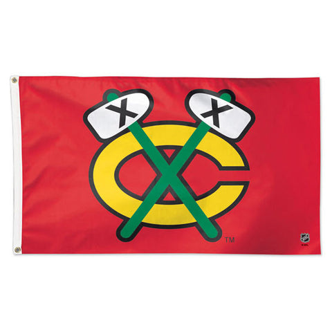 Chicago Blackhawks Tomahawk Flag Wincraft Deluxe 3' X 5'