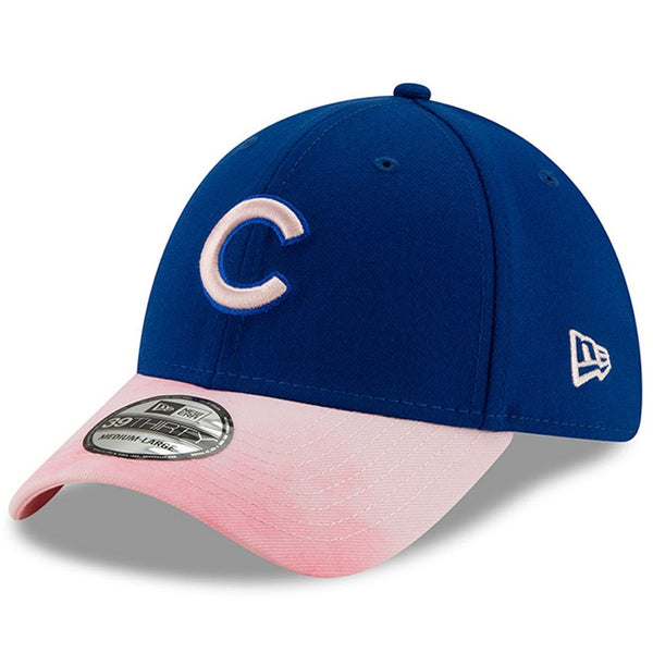 Chicago Cubs New Era 39THIRTY Adult's 2019 Mother's Day Royal/Pink Fitted Cap