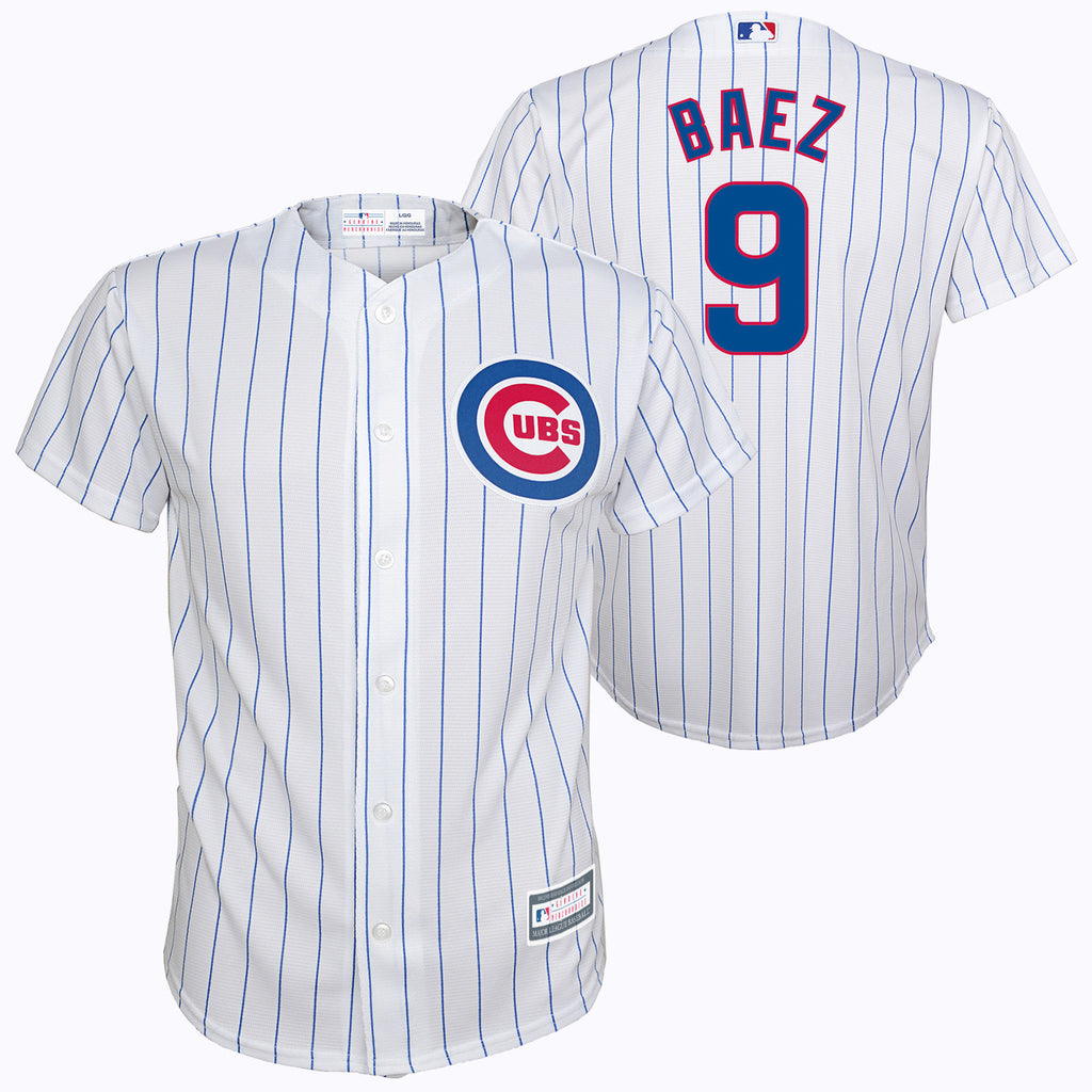Chicago Cubs Kids/Toddler/Infant Javier Baez #9 Home Cool Base Printed Jersey - White