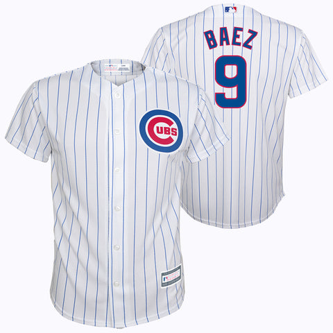 Chicago Cubs Youth Javier Baez Number #9 White Stitched Jersey