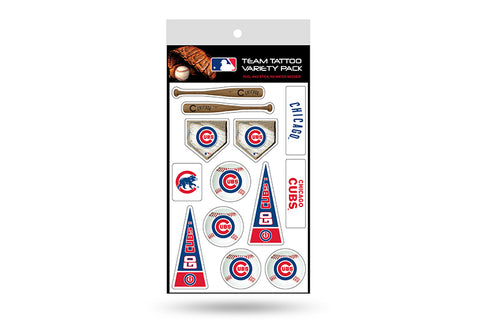 Chicago Cubs MLB Team Tattoo Variety Pack by Rico