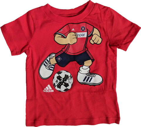 Chicago Fire Infant MLS adidas Soccer Player Red T-Shirt