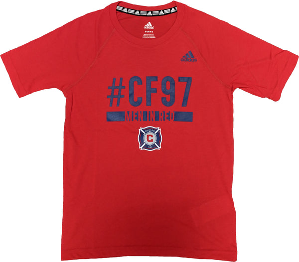 adidas Chicago Fire MLS Recovery Raglan SS Youth Tee